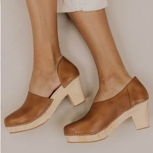 New Free People Monroe Taupe Clogs